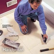 Installing Vinyl Sheet Flooring How To Install A Sheet Vinyl Floor Family Handyman