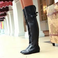 womens flat boots uk size 34 45 flat knee boots fashion