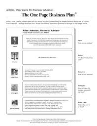 the one page business plan templates radiodigital co