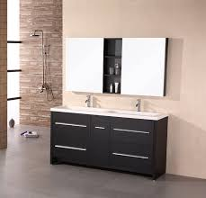 inch contemporary espresso finish double sink top bathroom vanity