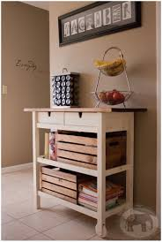 kitchen compact storage white kitchen cart with stainless light