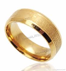 gold band ring online cheap stainless steel etched lord s prayer cross