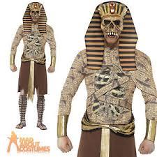 zombie pharaoh costume mens egyptian halloween mummy fancy