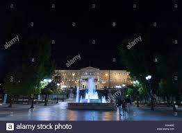 syntagma square athens at night stock photos u0026 syntagma square