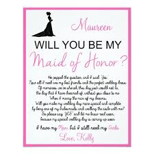 Matron Of Honor Poem Will You Be My Matron Of Honor Poem