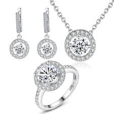 stone setting gold necklace images Elegant 18k white gold plated brass aaa cubic zircon cz stone jpg
