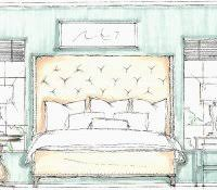 bedroom elevation drawing plan for house autocad front drawings