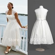 a line tea length plus size wedding dresses prom dresses cheap