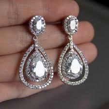 wedding earrings chandelier bridal earrings teardrop bridal earrings chandelier