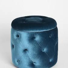 Safavieh Storage Ottoman Safavieh Florence Tufted Round Nailhead Trim Light Blue Storage