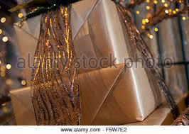 christmas display in barton grange garden centre preston stock