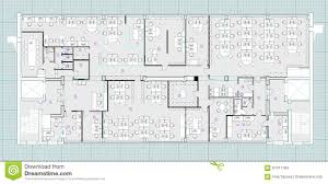Floor Plan Blueprint Standard Office Furniture Symbols On Floor Plans Stock
