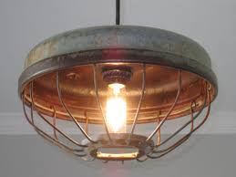 Vintage Kitchen Light Fixtures Industrial Chicken Feeder Pendant Lighting Vintage Kitchen