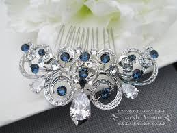 something blue hair comb cubic zirconia hair comb montana