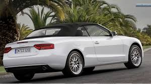 white audi a5 convertible audi a5 cabriolet in white side back on road wallpaper