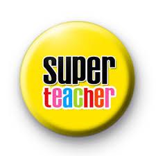 super teacher yellow badge kool badges 25mm button badges