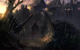 dark village wallpaper china village art cities dark fantasy people weapon sword landscapes