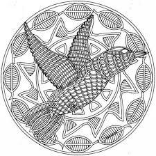Dessin de coloriage Mandalas animaux à imprimer  CP17062