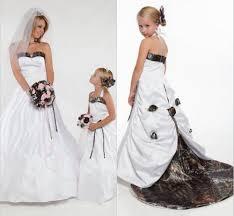 white camo wedding dresses and tux getswedding