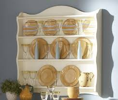 interior shabby chic wall mounted wooden plate rack with and