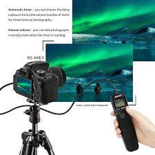 amazon com shoot rs 60e3 90cm lcd timer shutter remote release