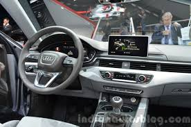 audi a4 2015 india bound 2016 audi a4 interior at the iaa 2015 indian autos blog