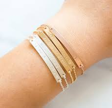 name engraved bracelets gold bar bracelet engraved bracelet bridesmaid gift initial my