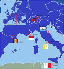 map of all the countries in europe european microstates