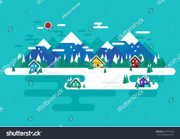 winter time vector winter landscape simple stock vector 337517969