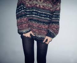 sweater aztec jumper stripes multicolor grandad vintage