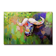 aliexpress com buy buffalo picture realistic wild animal oil