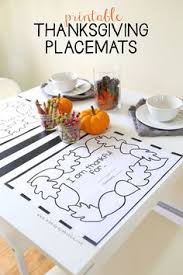 thanksgiving coloring placemats thanksgiving free printable