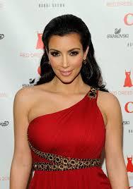 kim kardashian pink lipstick and red dress bright lipsticks