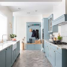 houzz blue kitchen cabinets 75 beautiful galley kitchen with blue cabinets pictures