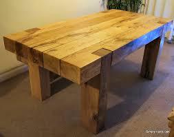 Rustic Oak Beam Dining Table Simply Rustic Oak Furniture - Rustic oak kitchen table