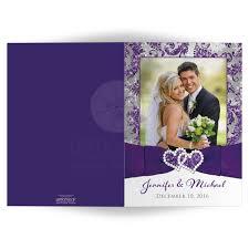 photo wedding thank you card purple silver white