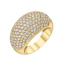 gold pave rings images Full pave dome ring 18k gold 18k yellow gold bar stud diamond jpg