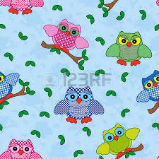 set of nineteen colorful ornamental vector owl stencils isolated