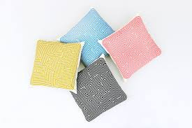 Square Sofa Pillows by Sofa Cushion Square Patterned Fabric Maze Mustard By