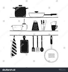 cookware isolated vector set hand drawn stock vector 520098334