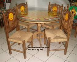 Mexican Dining Room Furniture Carved Mexican Furniture Mexican Carved Tables Chairs