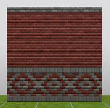 mod the sims lost and found brick stretcher bond walls