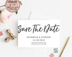 navy blue u0026 rose gold wedding save the date postcard printable