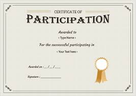 doc 600451 printable certificate of participation u2013 49 free