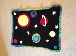 themed blankets crochet space themed baby blanket crochet blanket