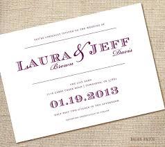 Example Of Wedding Invitation Cards Simple Wedding Invitations Kawaiitheo Com
