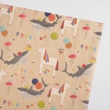 christmas kraft wrapping paper unicorn kraft wrapping paper roll world market