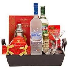 martini gift basket martini vodka gift basket