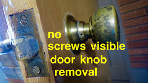 Old Knobs How To Door Knob Removal No Screws Visible Youtube
