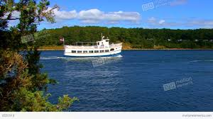 cape cod canal ferry boat tour stock video footage 8531919